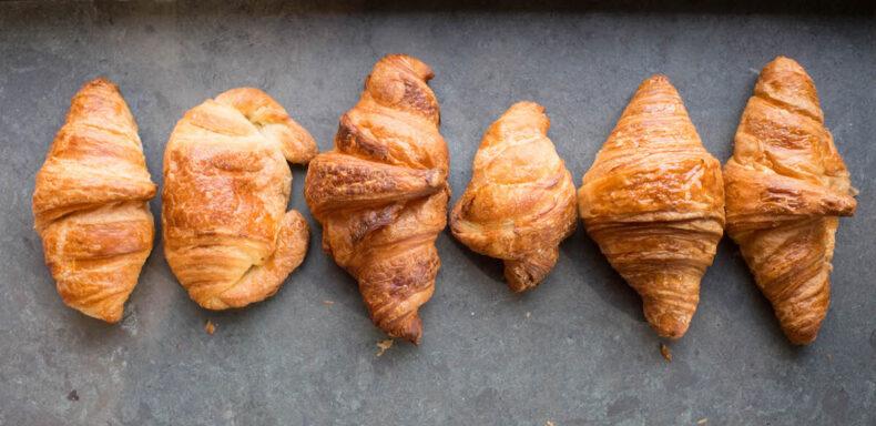 Met de croissant gaat het goed