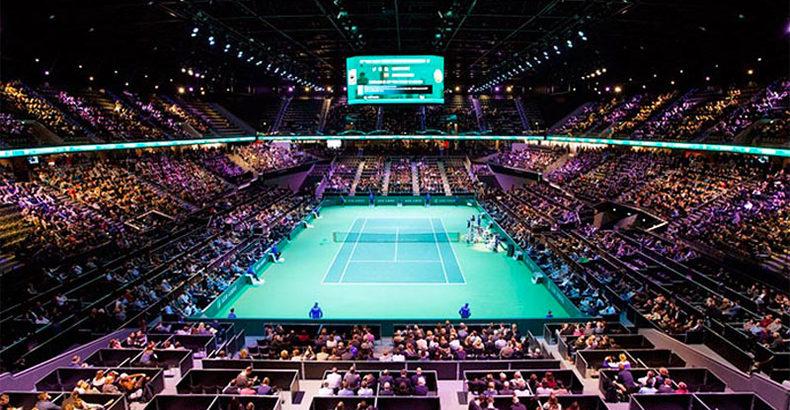 Tekstwerf op het ABN AMRO World Tennis Tournament